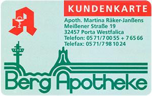 Kundenkarte Bergapotheke Neesen